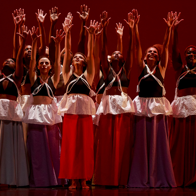 The African American Dance Company performs onstage