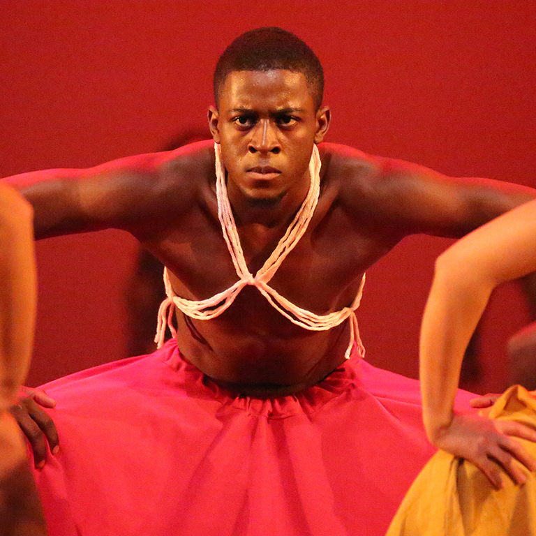A dancer with the African American Dance Company